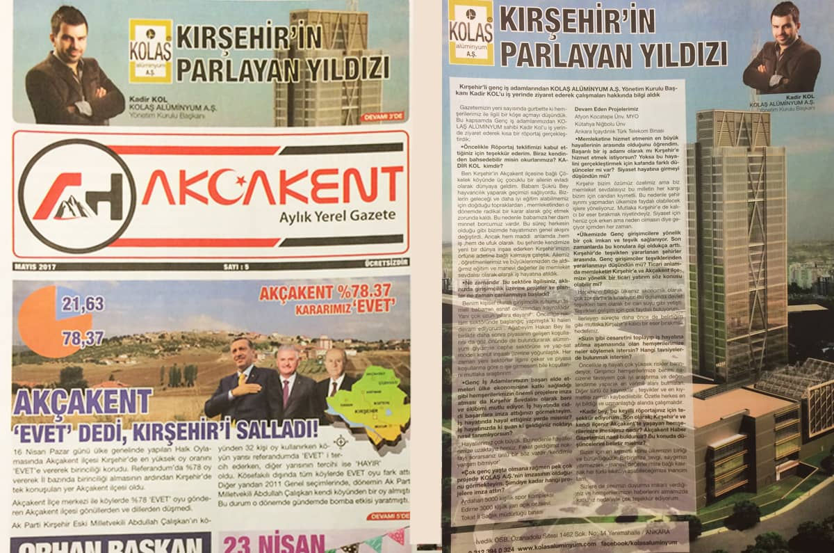 Akçakent Newspaper - May 2017